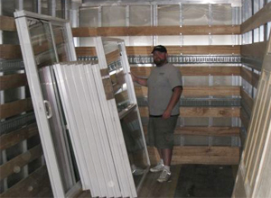 Builders Millwork Supply Delivers supplies to the job site