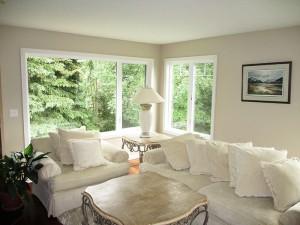 An interior view of Builders Millwork Supply Window Installation Job