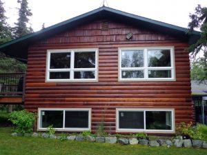 Anchorage window install by Builders Millwork Supply