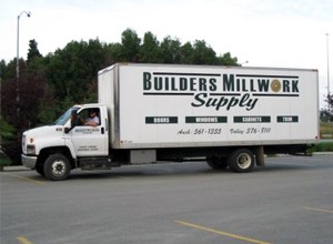 Builders Millwork Supply has a fleat of delivery and installation vehicles to help you with your windows doors and cabinetry